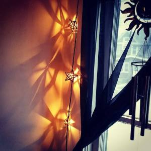 My beautiful star string lights in my bedroom.
